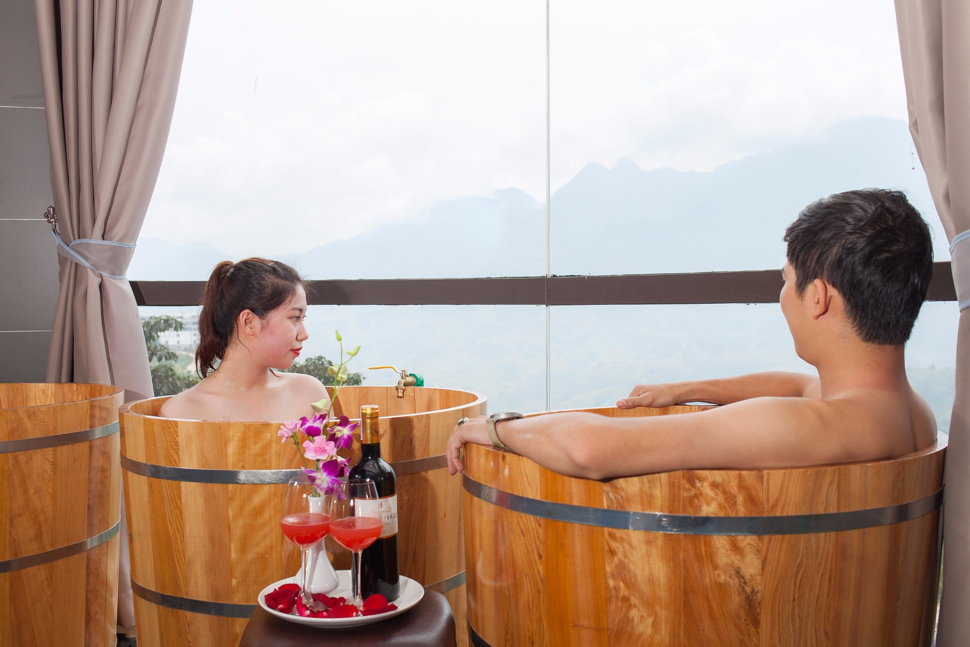 Bath with Herbal Of Red Dao People